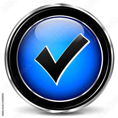 Vector blue check mark