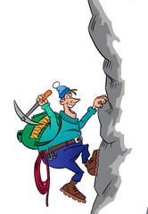 Climber on a mountain