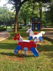 spring horse for child at playground