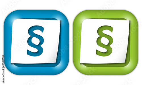 set of two icons with paper and paragraph