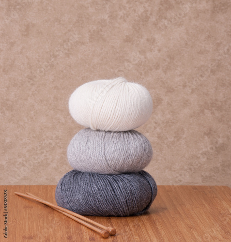 Knitting Accessories. Yarn Balls