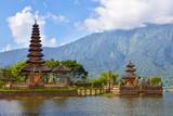 Pura Ulun Danu on lake Beratan, Bali, Indonesia