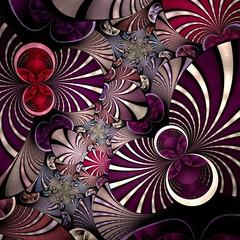Dark violet fractal flower