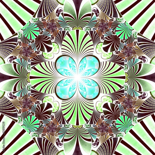 Dark green fractal flower