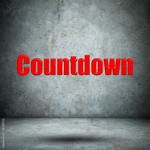 Countdown on concrete wall