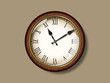 Retro vector wall clock. File is in eps10 format.
