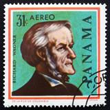 Postage stamp Panama 1966 Richard Wagner, German Composer poster
