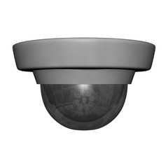 Security Dome Camera on White