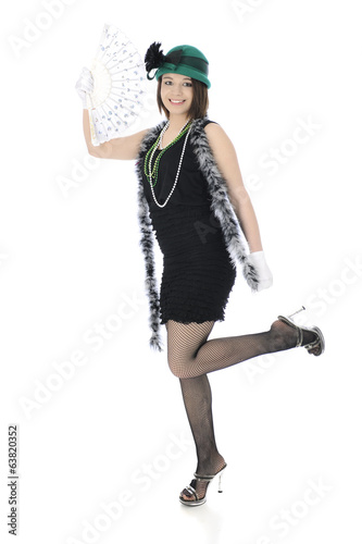 Happy Teen Flapper