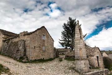 La Fage, Lozère, clocher de tourmente