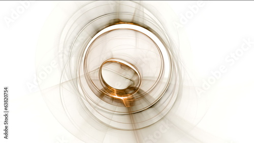 Circular motion, whirlpool, golden vortex, seamless loop
