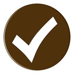Button - Hakensymbol - brown - g822
