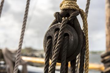 Old sailing ship details