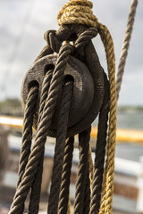 Old sailing ship details