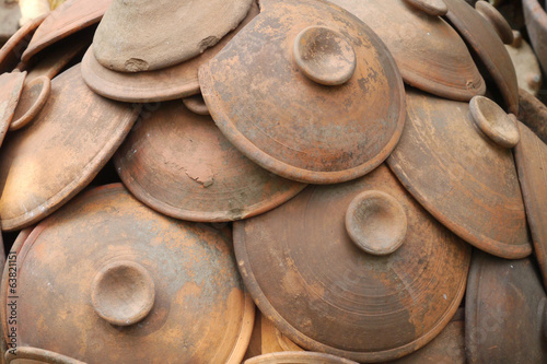 Group of pottery clay