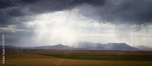 Cloudburst over the Grampians range, Australia