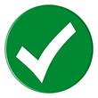 canvas print picture - Button - Checksymbol - green - g824