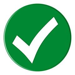 Button - Checksymbol - green - g824