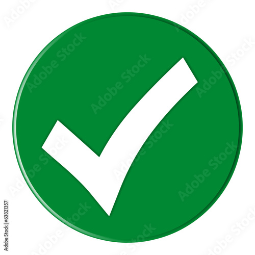 Button - Checksymbol - green - g824
