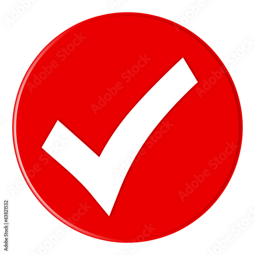 Button - Checksymbol - red - g825