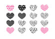 Heart abstract  icons signs and symbols set for your works