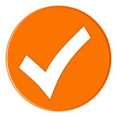 Button - Checksymbol - orange - g826