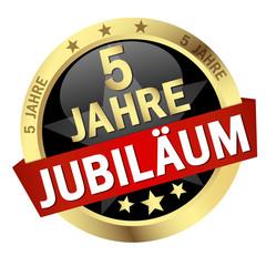 """Button mit Banner """" 5 JAHRE JUBILÄUM """""""