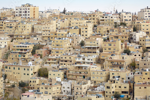 Middle east buildings and houses in Amman