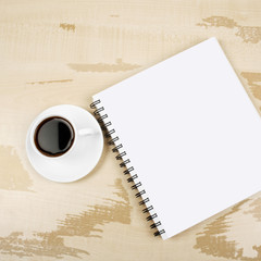 White cup and white page