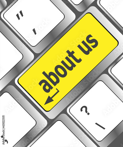 about us message on keyboard enter key