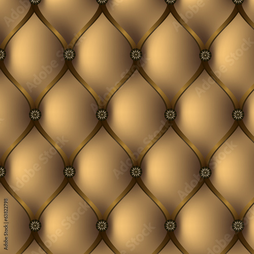 Buttoned brown background