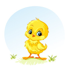 Illustration of a young chicken