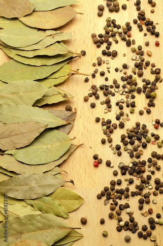 bay leaf and spices