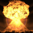 Постер, плакат: atombombenexplosion nuclear explosion