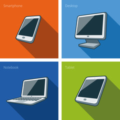 Screen electronics devices illustration