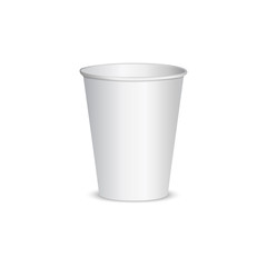 Open blank paper cup for coffee.