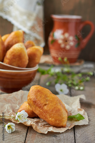 Fried fresh tasty pasties
