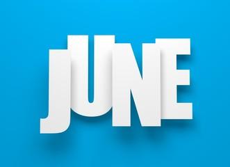 June on blue.