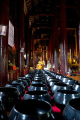 inside Buddhist temple