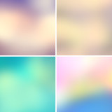 Fototapety Abstract colorful blurred vector backgrounds