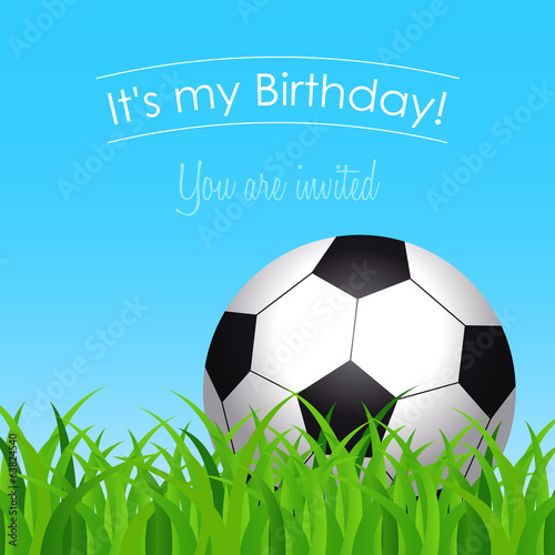 birthday party with a soccer ball on grass