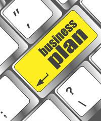 business plan button on computer keyboard key