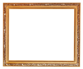 gilted carved old wooden picture frame