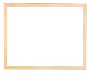 modern flat narrow light wooden picture frame