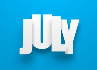 July on blue.