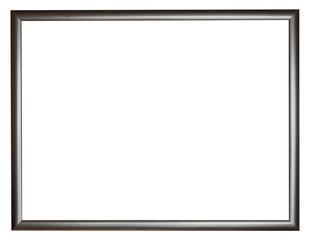 narrow black simple flat wooden picture frame