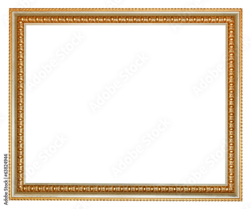 retro classical gilted wooden picture frame