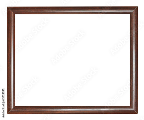 simple narrow dark brown wooden picture frame