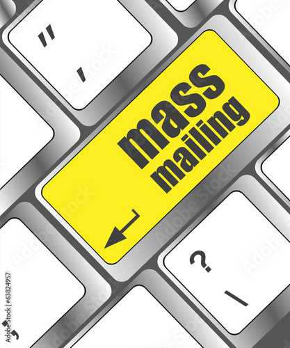 Marketing concept: computer keyboard with word Mass Mailing