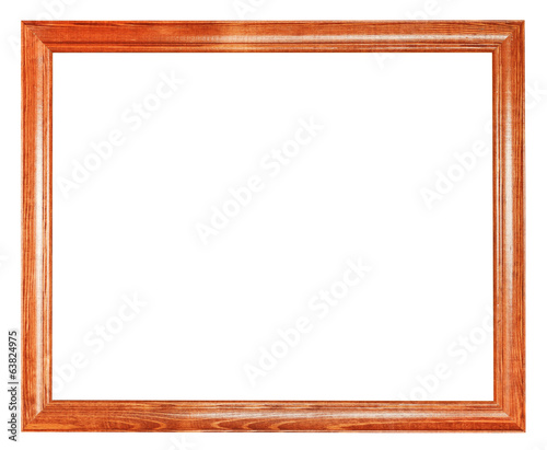simple brown wooden picture frame